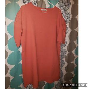 Salmon colored Zara knitwear sweater dress-nwt- m